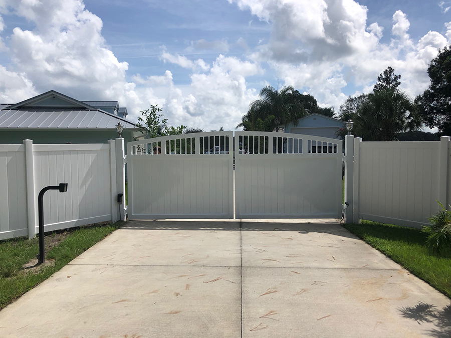 Driveway Entry Gates Deland Palm Coast Better Fence Co